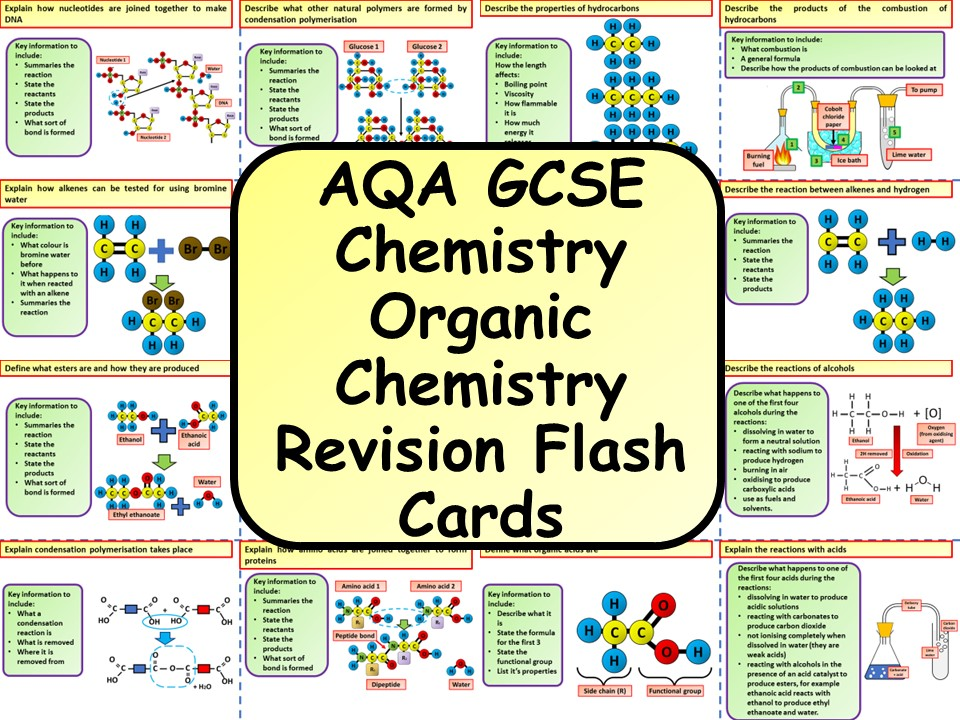 AQA KS4 GCSE Chemistry (Science) Organic Chemistry Revision Flashcards