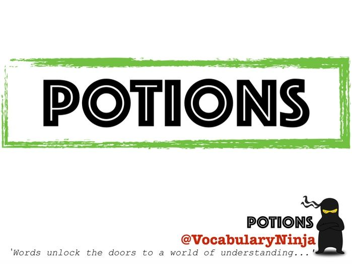 Potions Topic Vocabulary Pack