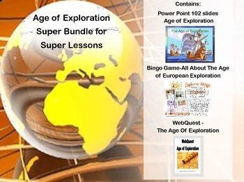 Age of Exploration Super Bundle- Power Point, Bingo Game & WebQuest