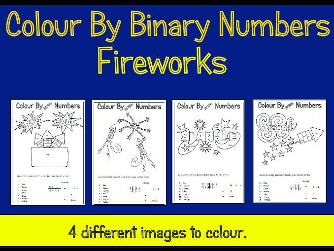 Fireworks Colour By Binary Numbers