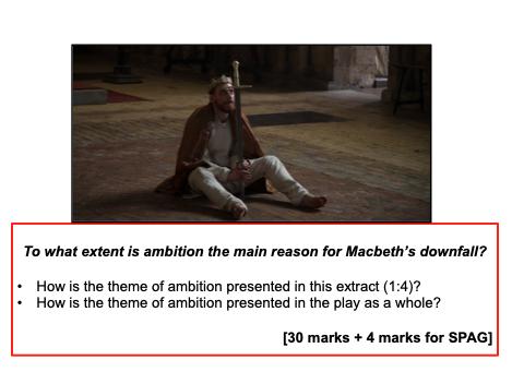 Ambition Exam Q Planning (Macbeth) - GCSE AQA - KS4