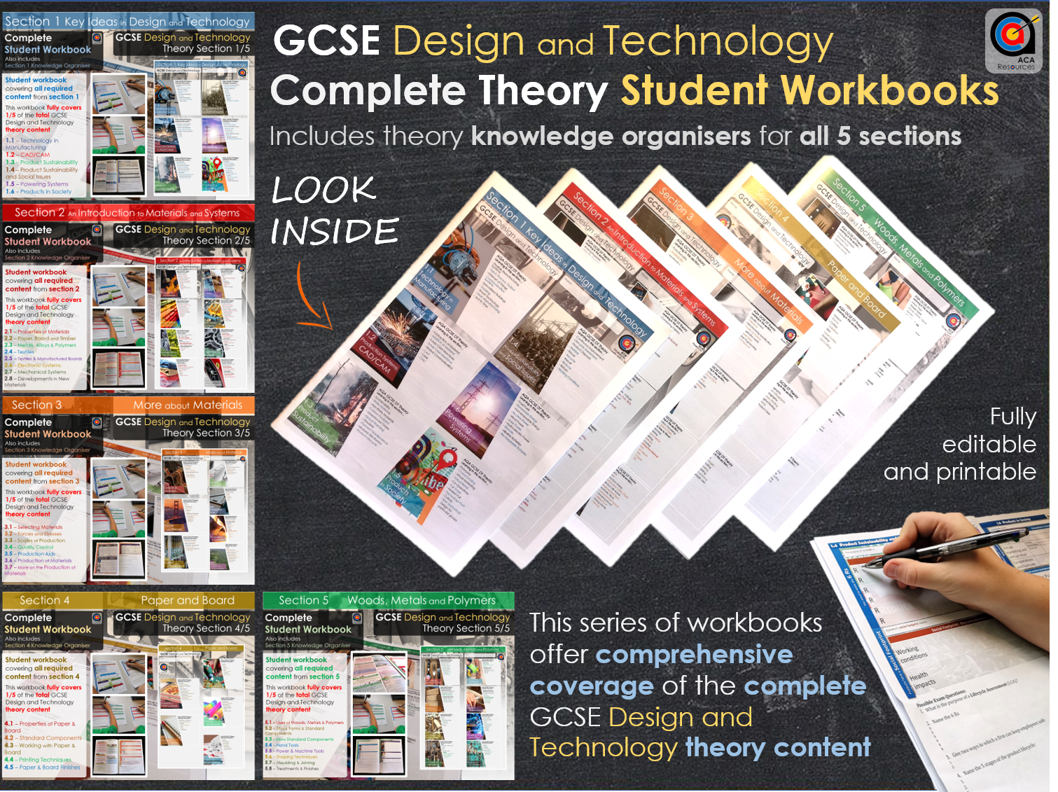 Complete GCSE DT Theory - Workbooks