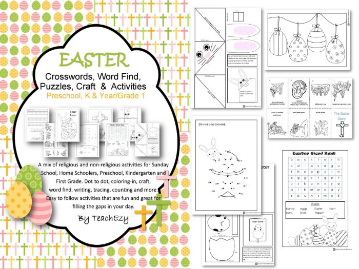 Easter Activities Preschool to Year 1