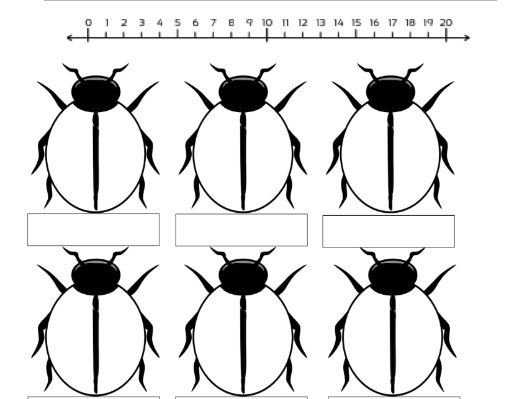 Ladybird Addition Worksheet