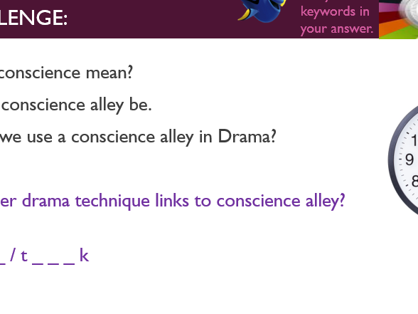 Drama Lesson Bullying, Conscience Alley