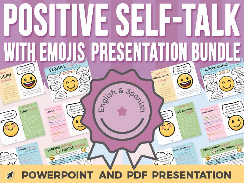 Positive Self-Talk with Emojis - PowerPoint Presentation BUNDLE