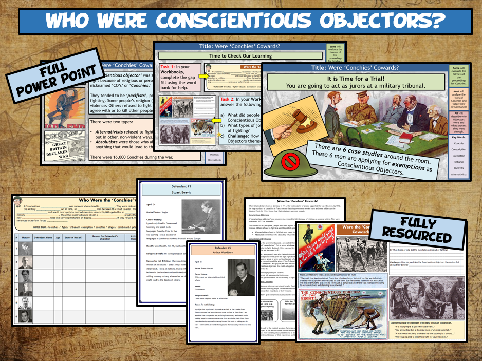 WW1 L5 - Who Were the 'Conscientious Objectors?'