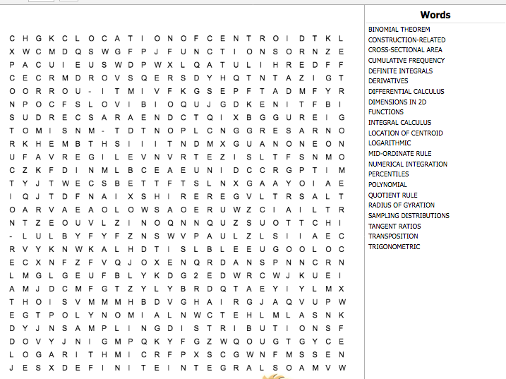 Construction & the Built Environment Level 3 Unit 15 Word Search which covers ALL learning outcomes.