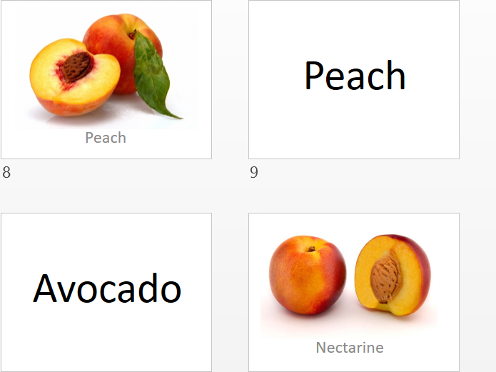 Talks about fruits (31 types of fruits)