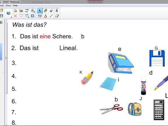 KS3 Echo 1 Hast du einen Bleistift? interactive
