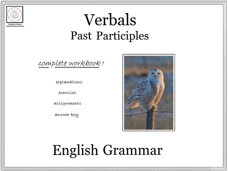 English Grammar: Past Participles (B&W)