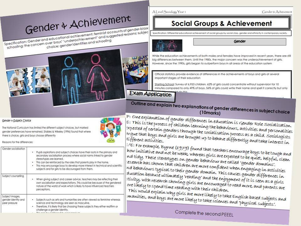 AQA Sociology - Year 1- Education - External Factors (Gender, Ethnicity & Social class) - Complete section