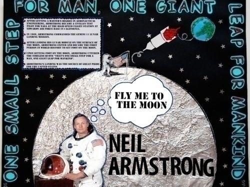 Neil Armstrong classroom/ corridor display