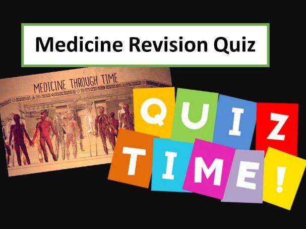 Medicine 9-1 GCSE - revision quiz