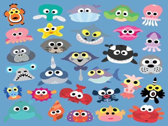 Printable Sea Animal Masks