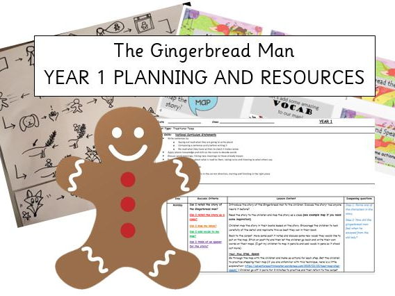 Year 1- The Gingerbread Man- Storytelling Approach- IMITATE- WHOLE WEEK PLANNING WITH RESOURCES