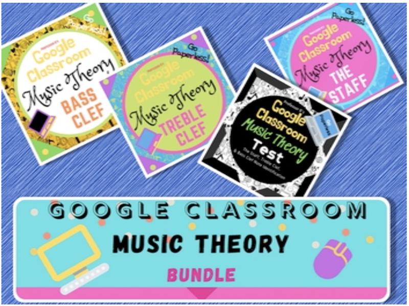 GOOGLE CLASSROOM BUNDLE #1: Music Theory eLearning