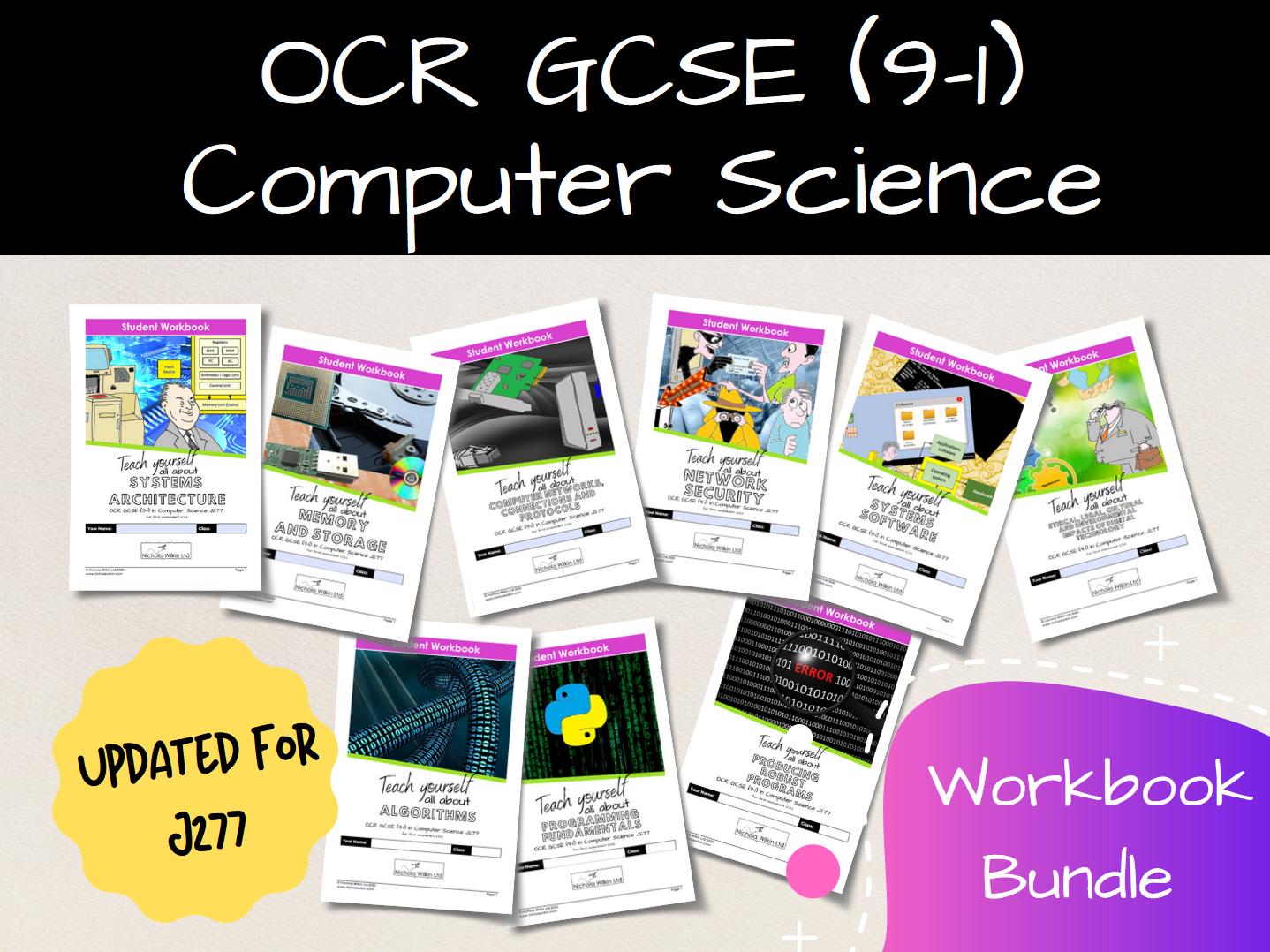 OCR GCSE (9-1) Computer Science J277 Workbooks