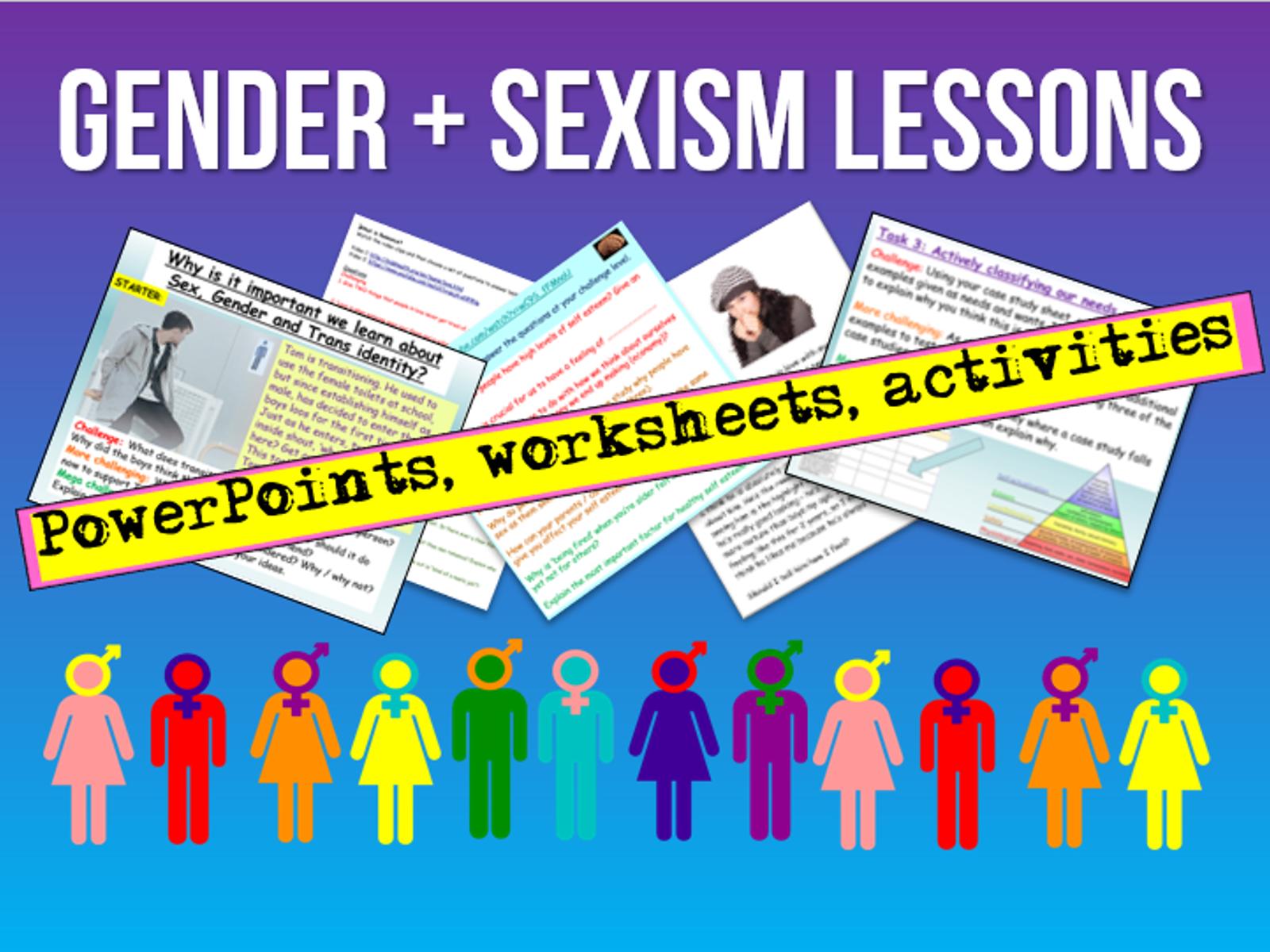 Gender + Sexism PSHE