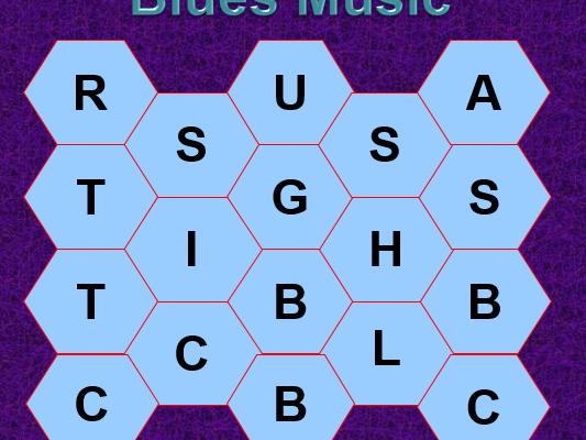 KS3 Blockbusters Starter - Blues Music