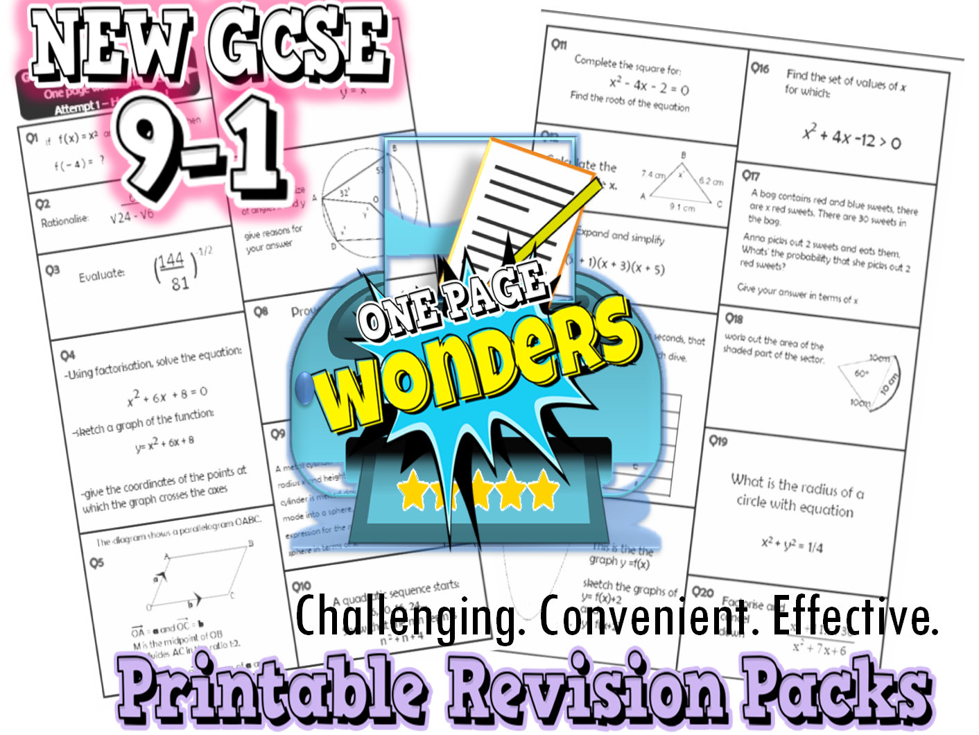 GCSE 9-1 Maths Revision/ exam practice - target grade 7 and 8/9