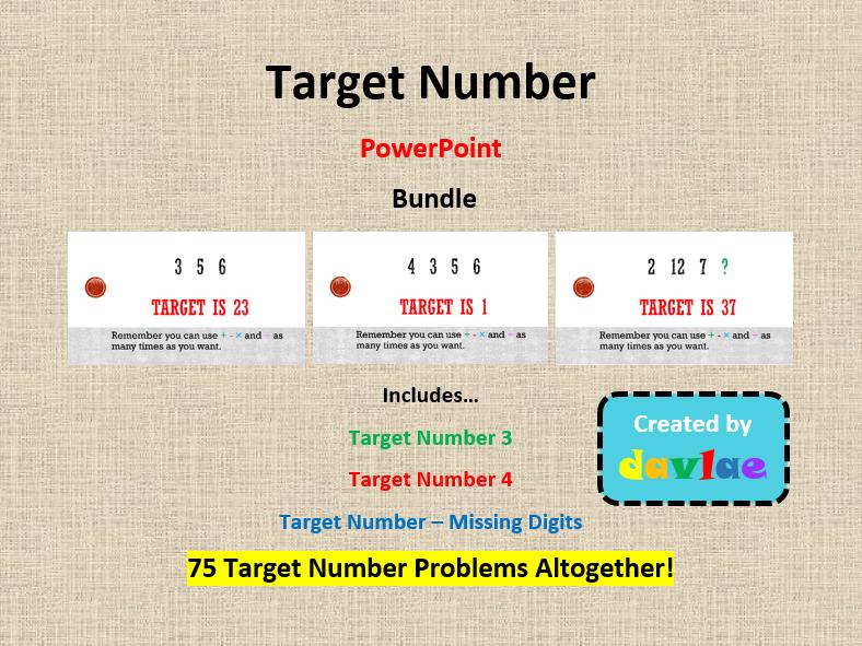 Target Number Bundle