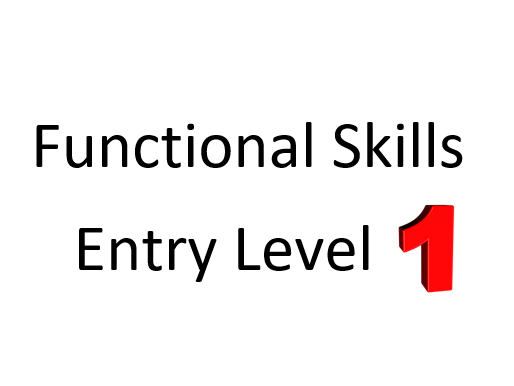Functional Skills English - Entry Level 1 Bundle