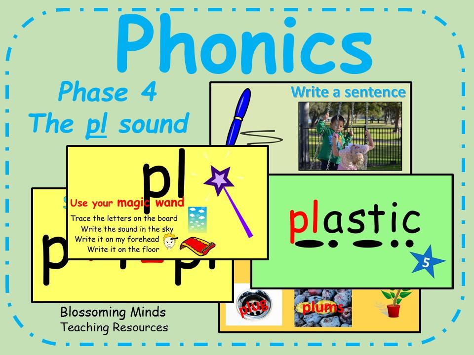 Phonics phase 4 - Consonant blends - The 'pl' sound