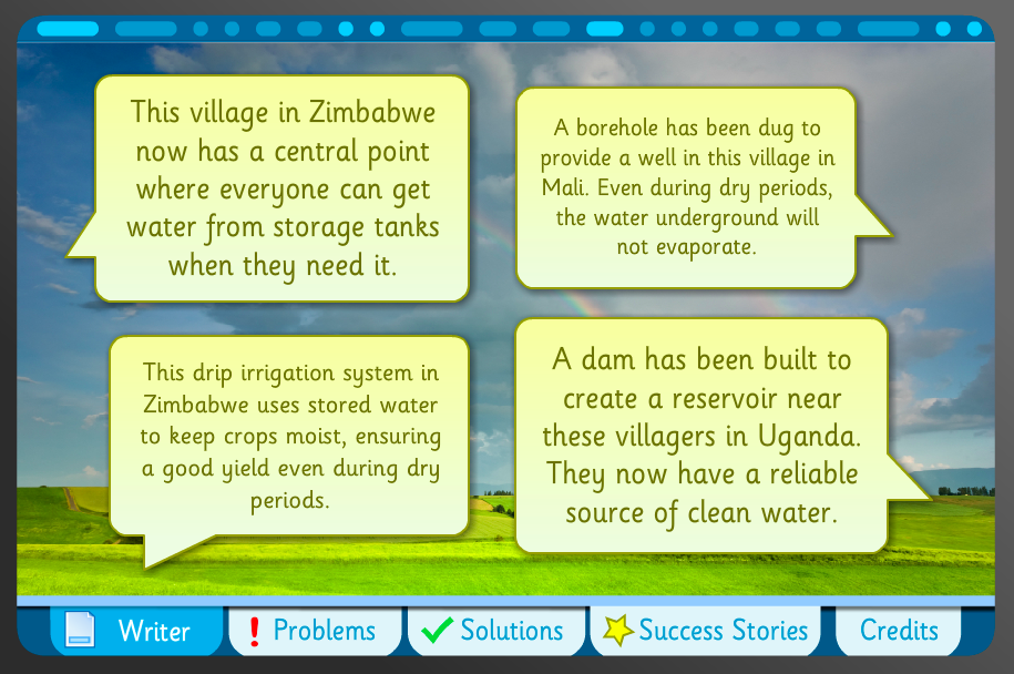 Persuasive Leaflet Writer Interactive Activity - Drought - KS2 Literacy