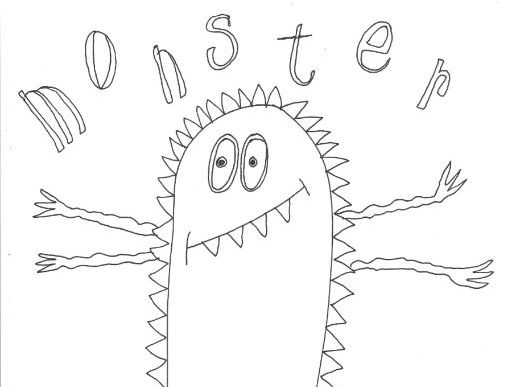 Monsters and Aliens Colouring Page (Creature 6)