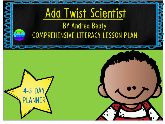 Ada Twist Scientist by Andrea Beaty 4-5 Day Lesson Plan and Activities