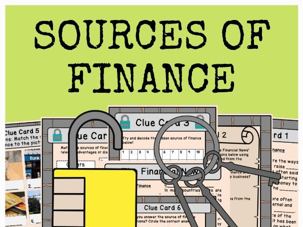 Sources of Finance - Escape Room