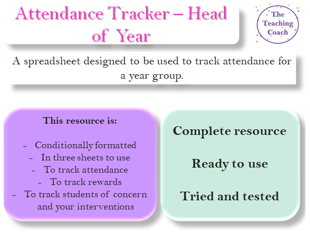 Attendance Tracking and Attendance Intervention Spreadsheet