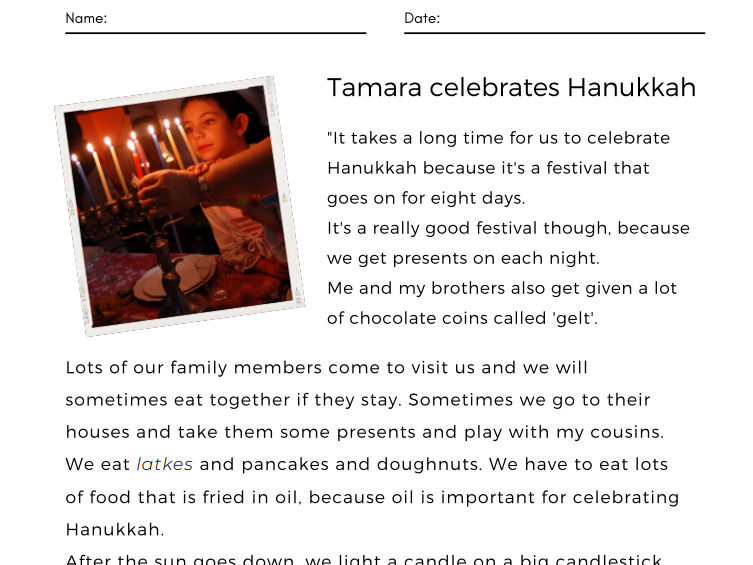 Tamara Celebrates Hanukkah