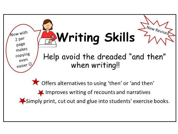 Writing Skills: Alternatives for 'and then'