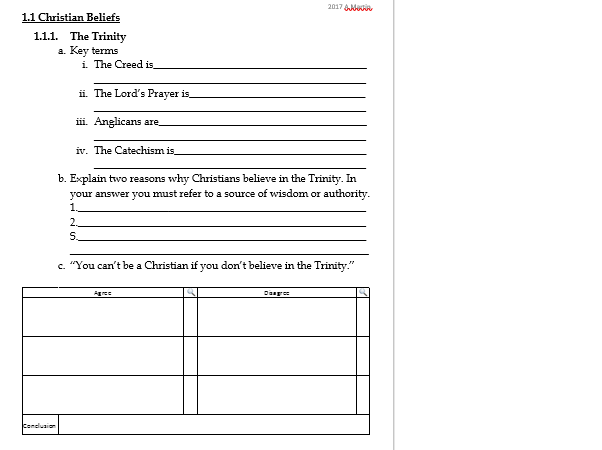 Marriage and the Family- Revision Worksheets