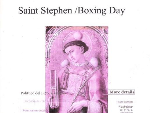 St. Stephen / Boxing Day