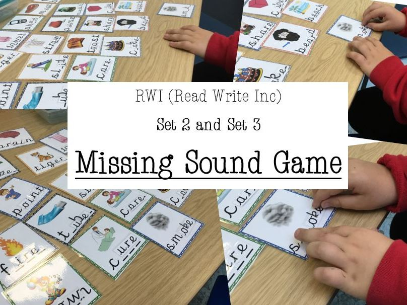 RWI Set 2 and Set 3- MISSING SOUND GAME- Read Write Inc- PHONICS