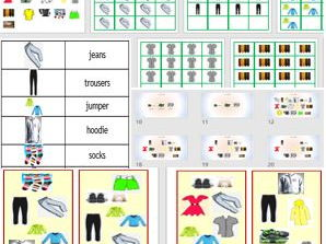 Clothes - Game and PowerPoint to teach basic items of clothing in English