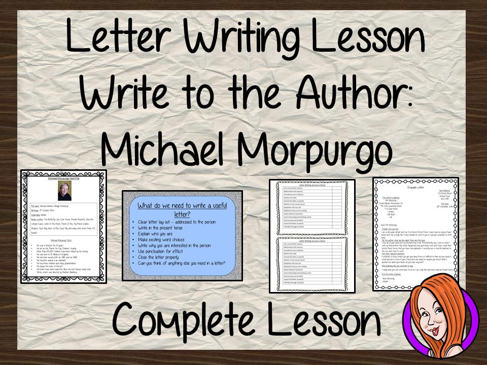 Letter Writing Complete Lesson – Michael Morpurgo