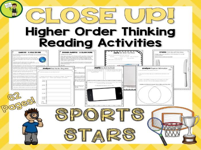Sports Stars - Close Reading Comprehension Texts / Higher Order Thinking (US/NZ)
