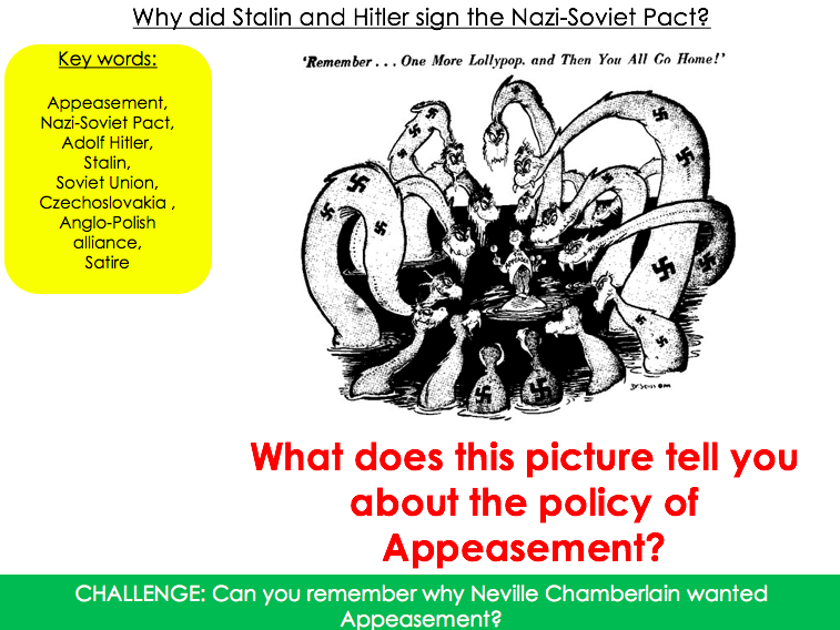Why did Stalin and Hitler sign the Nazi Soviet pact? And a 'roadmap to war' task as a round up