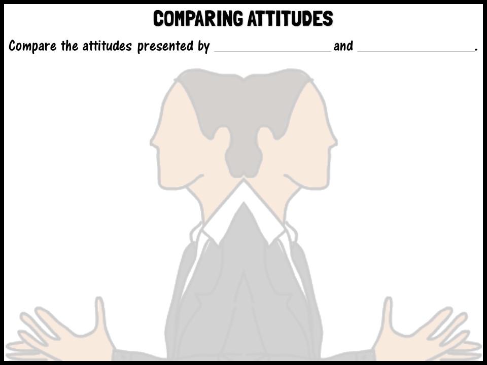 Comparing attitudes