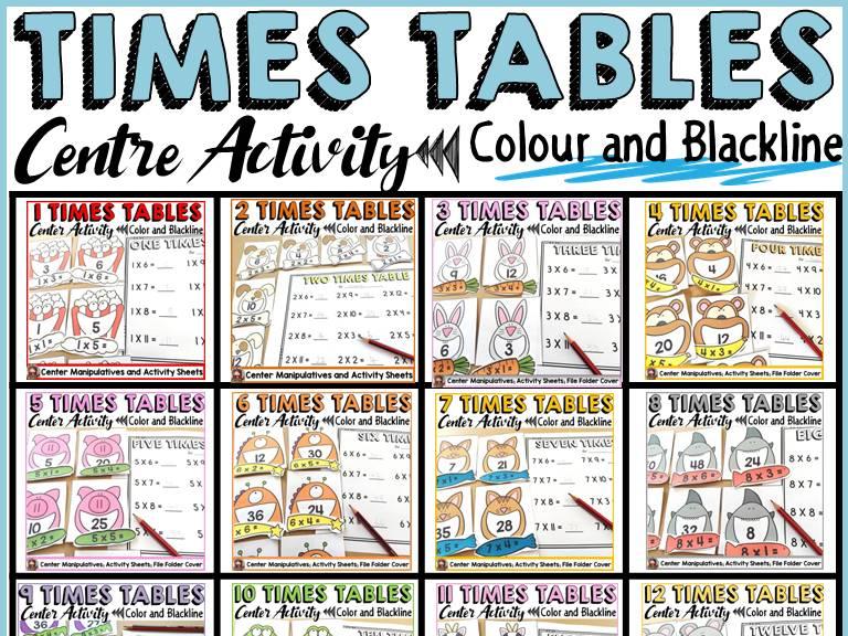 TIMES TABLES CENTRES BUNDLE: MULTIPLICATION (1-12)