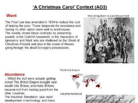 A Christmas Carol Exam Revision Booklet GCSE AQA