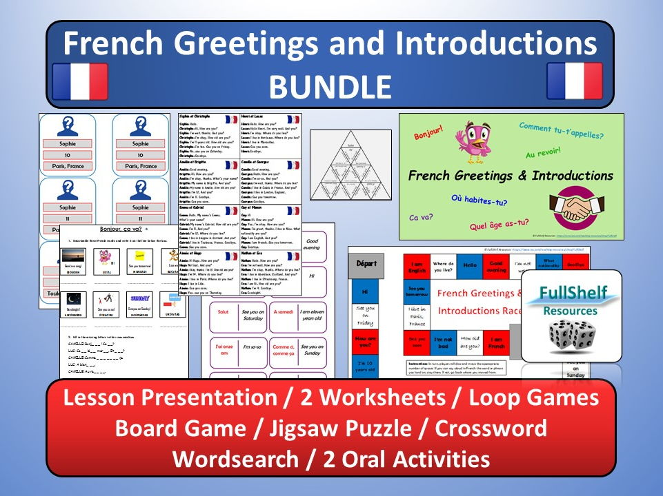 French greetings introductions role play and oral game by french greetings introductions role play and oral game by fullshelf teaching resources tes m4hsunfo Choice Image