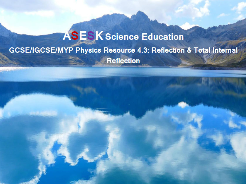 ASESK GCSE Physics Resource 4.3: Reflection & Total Internal Reflection