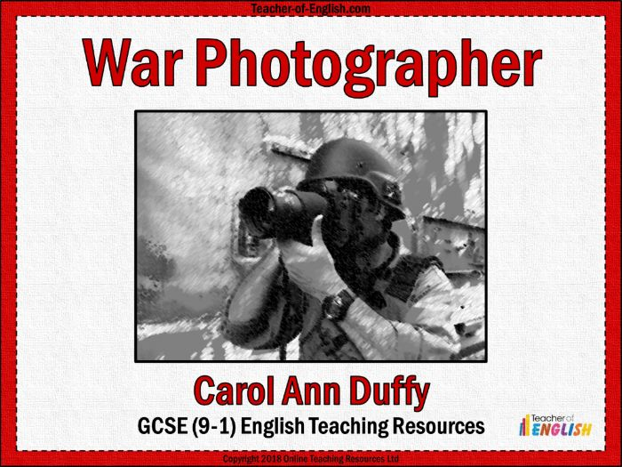 War Photographer (PowerPoint and worksheets)
