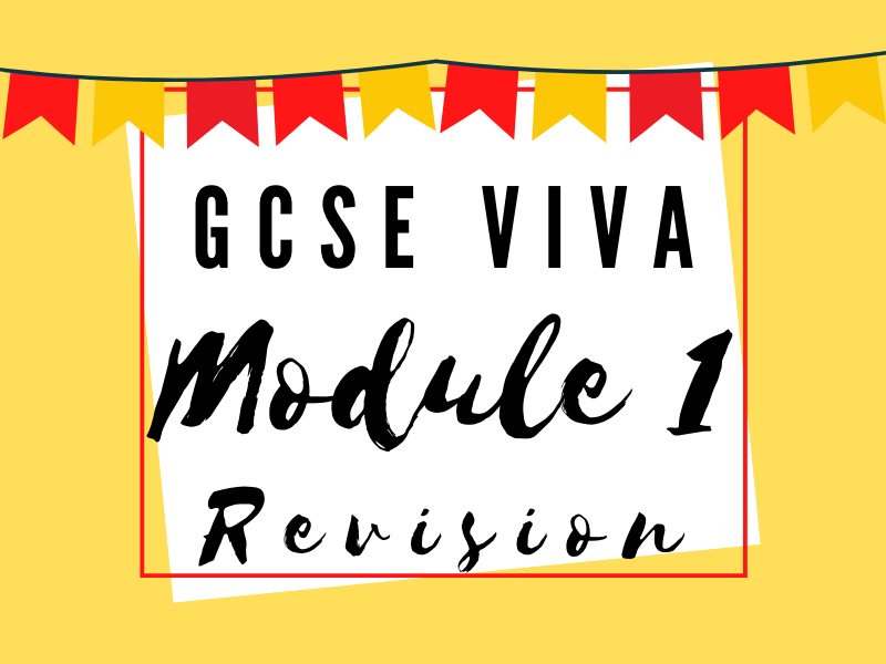 Module 1: Desconectate - Holidays Knowledge and Revision Organiser GCSE