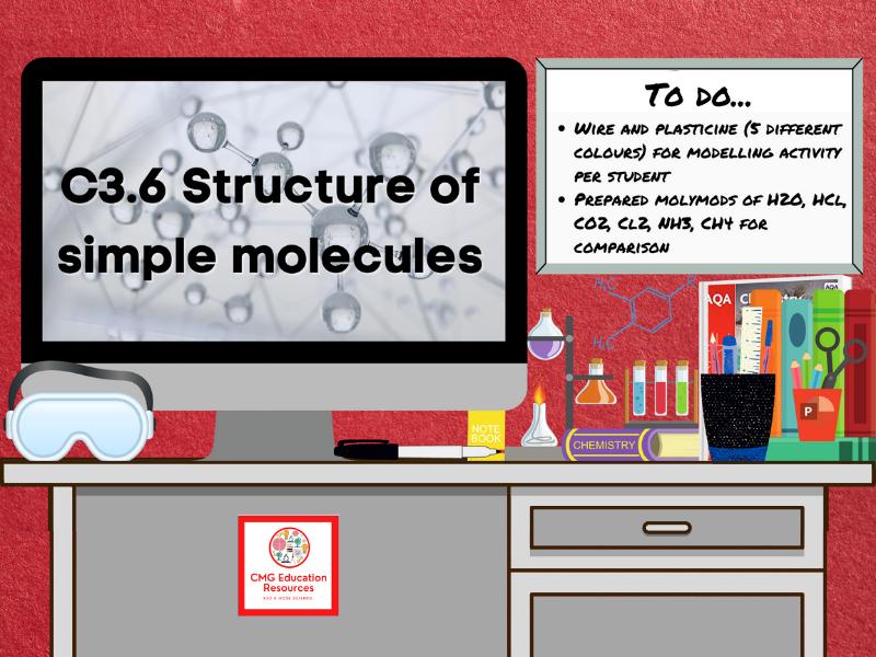 SC3.6 Structure of simple molecules (AQA 9-1 GCSE Chemistry)